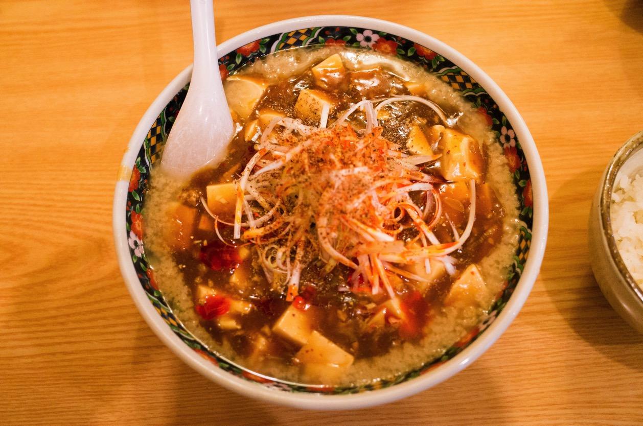 麺や 忍 新潟市中央区米山の滝汗確実な背脂マーボー麺を食べた!