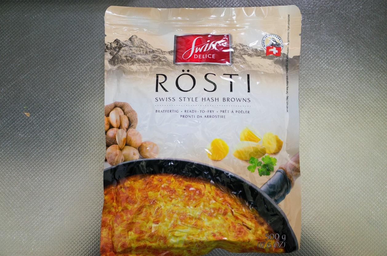 スイスデリス ロスティ カルディで買ったフライパンで焼くだけの簡単スイス名物料理。