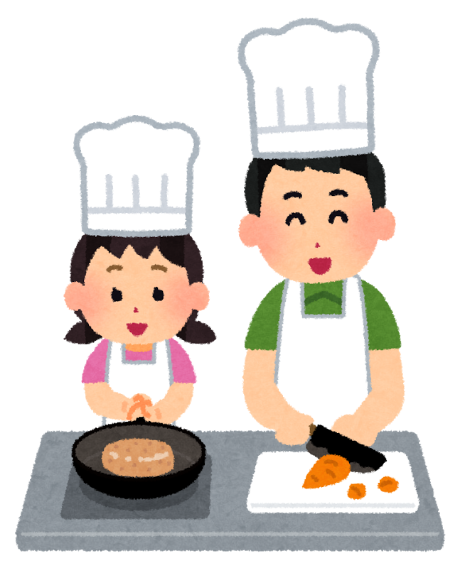 Cooking oyako man girl