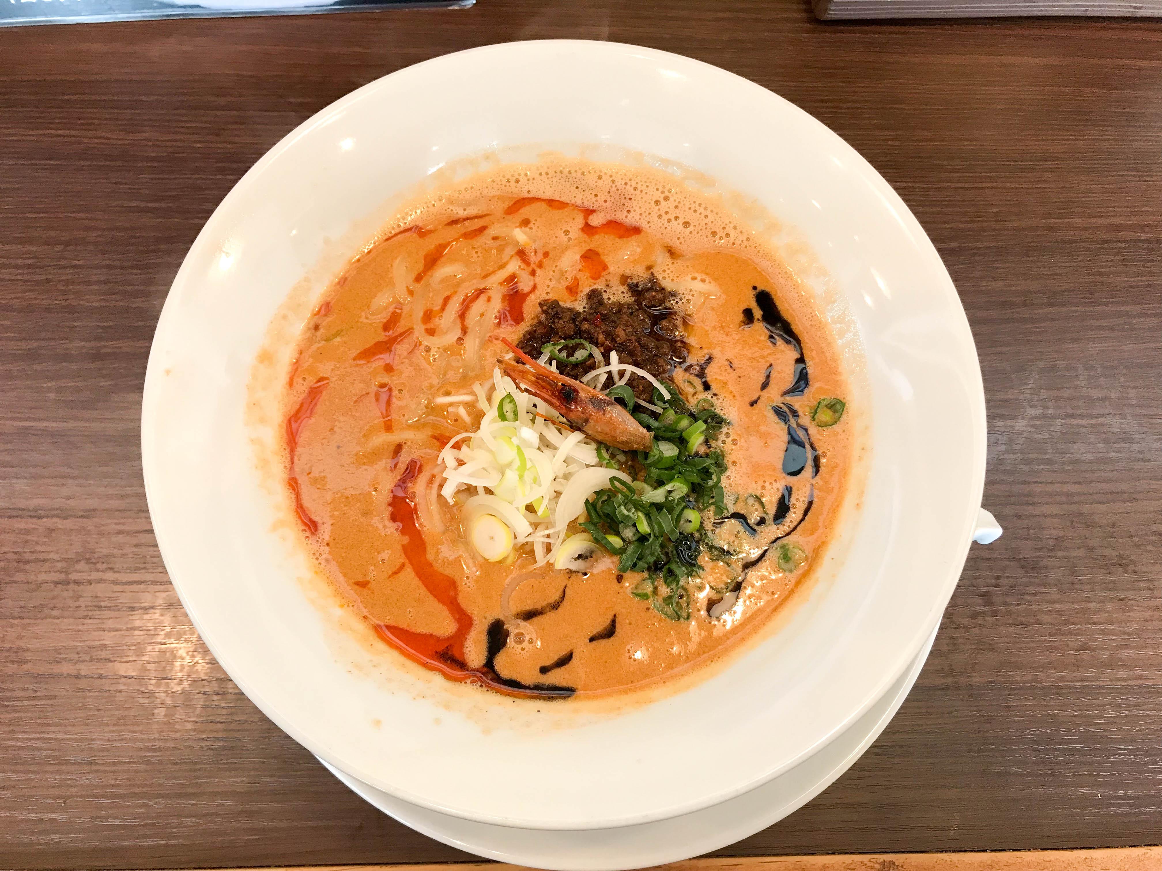 麺屋Aisin 河渡本店(新潟市東区河渡本町) 海老寿久担々麺を食べて叫んだ。「これはラーメンじゃない!もはや海老だ!」と。